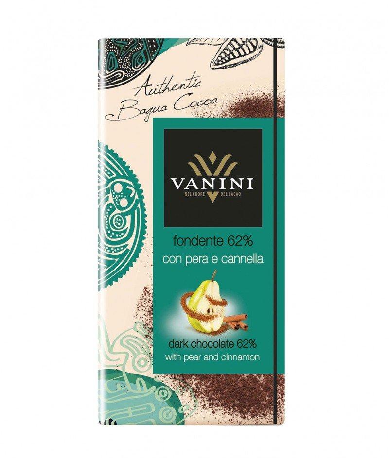 Тъмен Шоколад Vanini 62% Какао с Круша и Канела Gluten Free 100 g – Icam