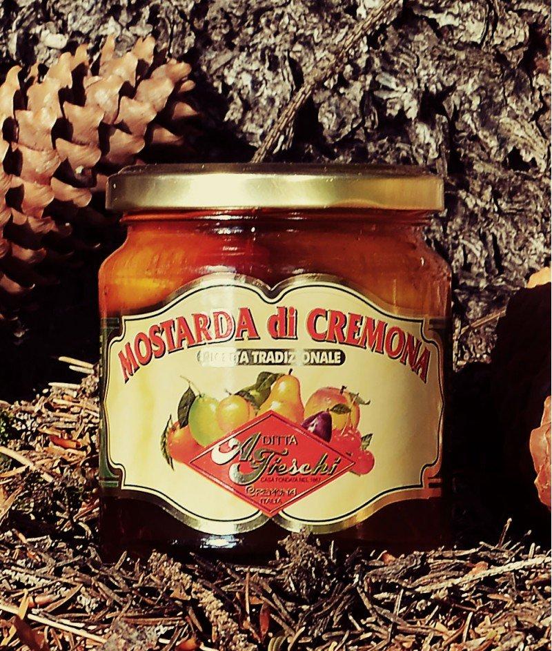 Мостарда от Кремона със  Смесени Плодове  Пикантна 380 g - A. Fieschi 1867