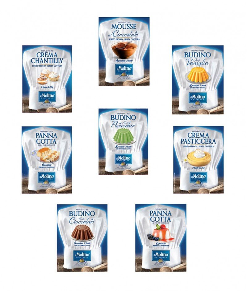 Дегустация Пудинги и Кремове Gluten Free 8 броя - Molino F.lli Chiavazza