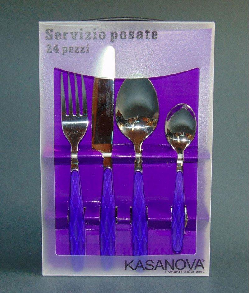 Комплект Прибори за Хранене 24бр. Лилави - Kasanova