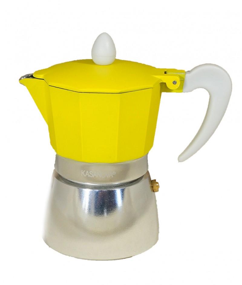 Кафеварка за 3 Кафета Жълта - Kasanova